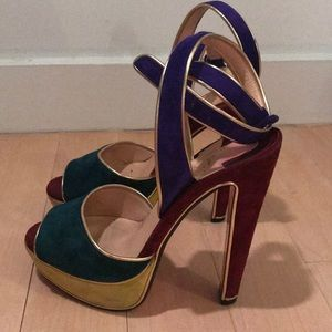 authentic Christian Louboutin platform sandals